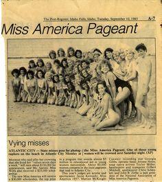Miss America 1986 Contestants