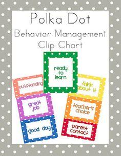 classroom behavior management. clip chart | stop light. printables.