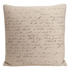 I pinned this Artisan Script Pillow from the Cool, Calm & Collected event at Joss and Main!