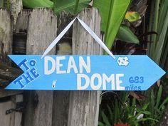 To the Dean Dome sign. http://alumni.unc.edu