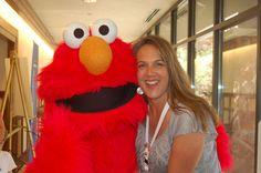 Hugging Elmo! Pinned by evoconference.com #evoconf