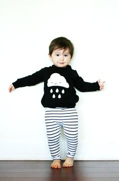 Kids Kawaii Cloud Raglan Pullover Sweatshirt by WhistleFlute, $33.00