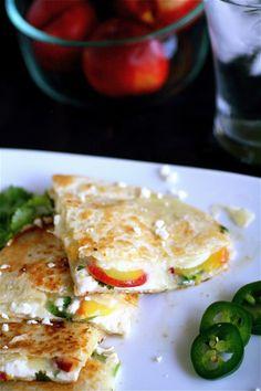 summer fruits, quesadillas, meatless summer meals, vegetarian meal, food, fruit quesadilla, recip, nectarin, vegetarian dinners