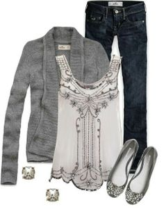 Soft Sweater with an intricately beaded tank, skinny ...