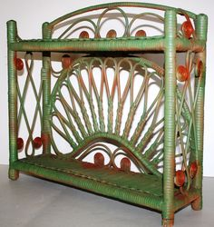 ... scroll colors shelves paint parti paints vintage green doubl shelf