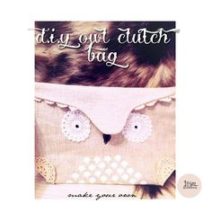 studio, sew, craft, diy owl, owl clutch, clutches, bag diy, owls, clutch bags