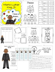 Martin Luther King, Jr. Unit Over 40 Pages 1st-4th/5th Grade Posters, bookmarks, activities, writing, and much more!  http://www.teacherspayteachers.com/Product/Martin-Luther-King-Jr-Unit-1058436