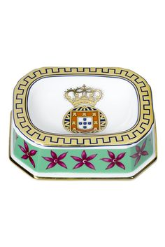 ITEM OF THE DAY: Dom Joao VI ashtray by Vista Alegre hand painted in fine porcelain featuring the Royal Arms. Available here at www.MyEuroElite.com and JUST $76.95