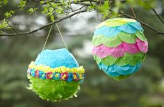 birthday bash, cupcake wrappers, cupcake liners, easter, homemad pinata