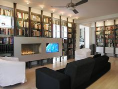 McInturff Architects knows how to make a modern fire.