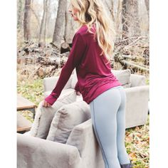 The greatest GREY workout pant! 'Go Long Legging' in Graphite from Albion