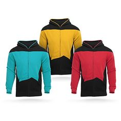 "#StarTrek: The Next Generation Uniform Hoodie from @ThinkGeek - ""Reporting for duty, bruv."" $59.99"