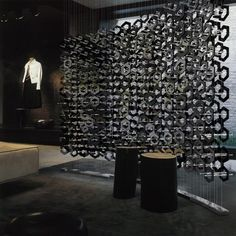 Inspiration: Acrylic hexagonal shapes suspended on stainless steel cable | www.peregrineplastics.com