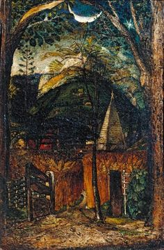 Samuel Palmer, Hilly Scene, c.1826-8, Tate collection