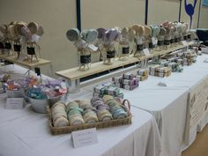 I like the way she wrapped the soap into a lolly pop shape - Cute - Craft Show Booth Display by SudznThings, via Flickr