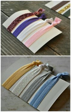 DIY Anthro inspired hair bands In every color, 80 hair bands! Easy. 20 yards of elastic in 20 colors. Some even with glitter. –32 Brilliant DIY Anthropologie Knockoffs