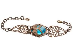 "Vintaj Signature Series By Mackie Mullane ""Tranquility's Flight"" Adjust To 8 Bracelet Lobster Clasp"