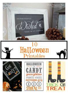 10 Fun Halloween Printables