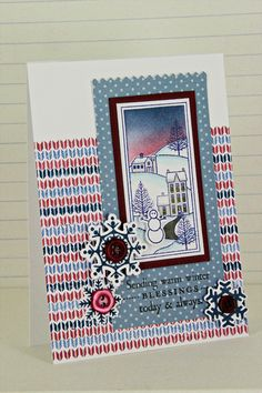 Winter Sunset Card by Erin Lincoln for Papertrey Ink (October 2012)