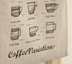 coffee on linen