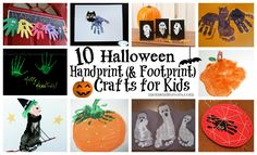 Roundup of 10 Halloween Handprint Crafts for Kids!