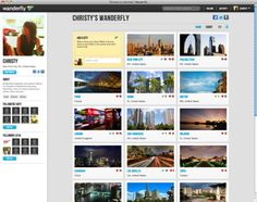 Wanderfly, a Pinterest for travel recommendations.