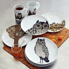 Owl Dessert Plates - West Elm