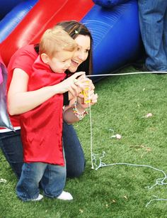 "Superhero party idea - use silly string to throw ""spiderman webs"" at pictures of villains"