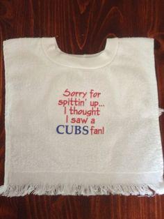 St. Louis Cardinals baseball baby bib by KreativeImpressions1 on Etsy, $12.50