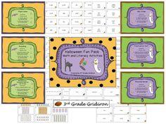 Halloween Math/Literacy Fun Pack giveaway (three winners, ends 10-13-13)