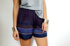 DIY: scarf print shorts
