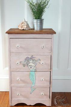 Decoupaged Mermaid dresser in Antoinette Chalk Paint®