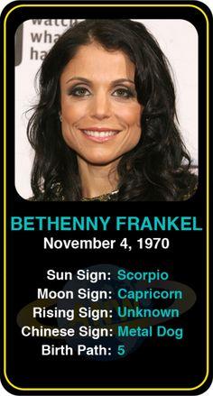 Celeb #Scorpio birthdays: Bethenny Frankel's astrology info! Sign up here to see more: https://www.astroconnects.com/galleries/celeb-birthday-gallery/scorpio?start=60  #astrology #horoscope #zodiac #birthchart #bethennyfrankel