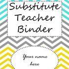 Free Editable Substitute Teacher Binder