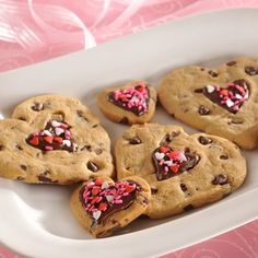 Valentine cookie hearts