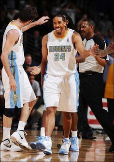 Veteran point guard Andre Miller doesn't typically show a lot of emotion, but he was clearly enjoying himself during Denver's home-opening victory over the Utah Jazz on Dec. 28.  Garrett Ellwood/NBAE/Getty Images