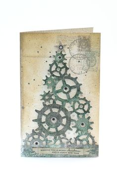 So creative! Tim Holtz Gears.