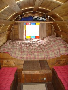 Sheep wagon interior