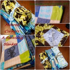 The Berry Bunch: Receiving Blanket: Mitered Corners Tutorial