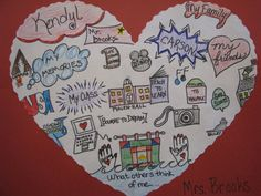 Heart Mapping with kids - super for Valentine's Day and for Writing Workshop! school, mind maps, heart mapping, kid