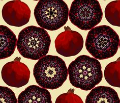 pomegranate fabric by allisonyoung on Spoonflower