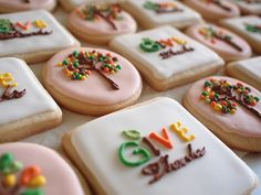 Thanksgiving tree cookies.