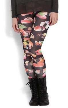 Deb Shops #Sushi Print #Legging $10.00