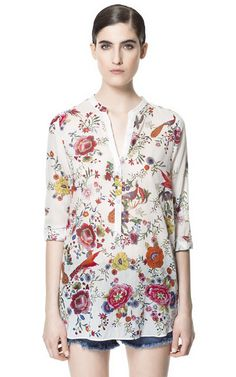Image 1 of FLORAL PRINTED SHIRT from Zara
