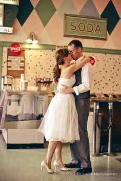 It's so cute because it's set in an old fashioned shop. I am going to go on a date at an old fashioned diner one day... :)