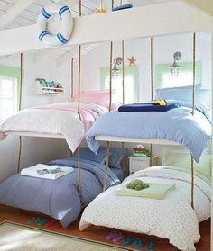 Nautical themed bedroom decor idea