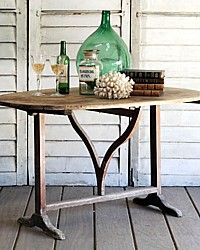 Folding antique French wine table