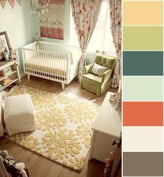 color palettes, color schemes, color combos, room colors, color pallettes, color pallets, kid rooms, nurseri, house colors
