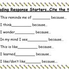 I use this with my 2nd and 4th grade students both as we are reading and as a reading response center.  Enjoy!...
