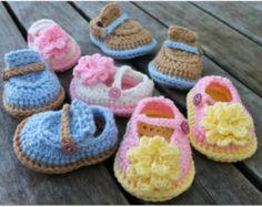 Download Now - CROCHET PATTERN Boy & Girl Baby Shoes - 0-12 mos - Pattern PDF